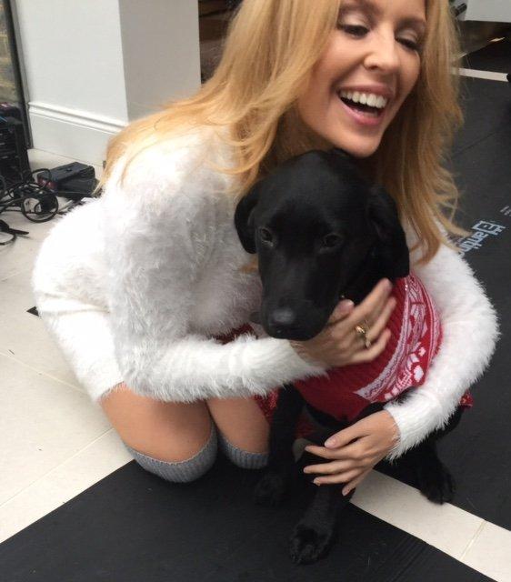Kylie hugs Chidley