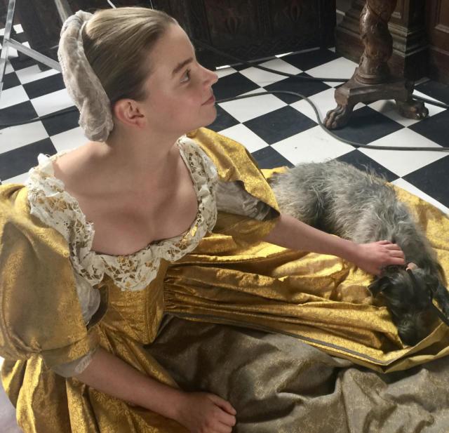 Asleep on Nella's dress